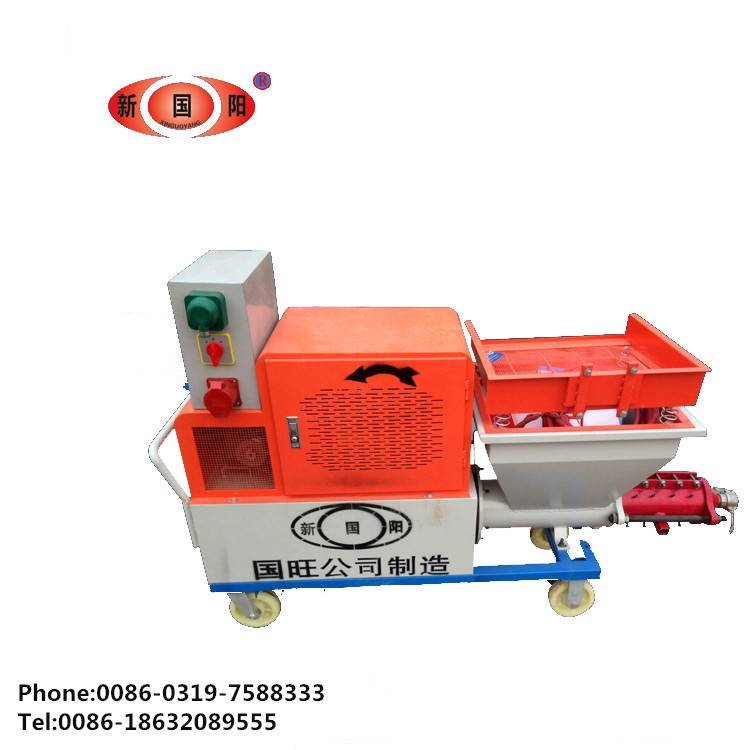 rapid mortar spraying machine
