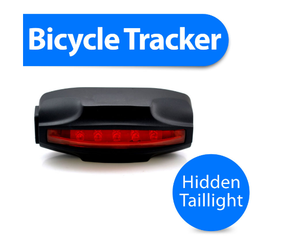 T18 bicycle bike gps tracker with taillight and hidden wireless gsm security bike alarm