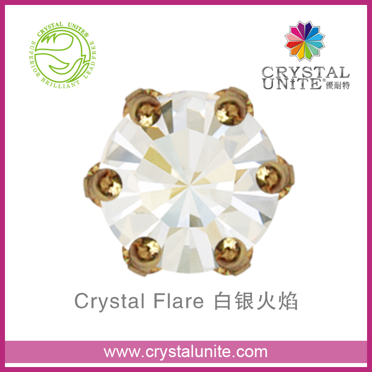 Crystal Unite Lead Free Chaton in Crown Setting