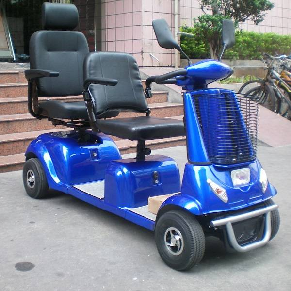 CE approve double seat handicapped electric scooter