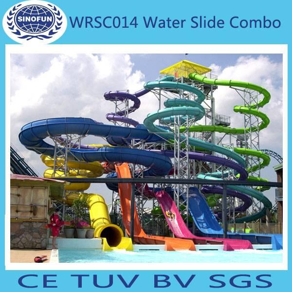 [Sinofun Rides] big fiberglass water park slide