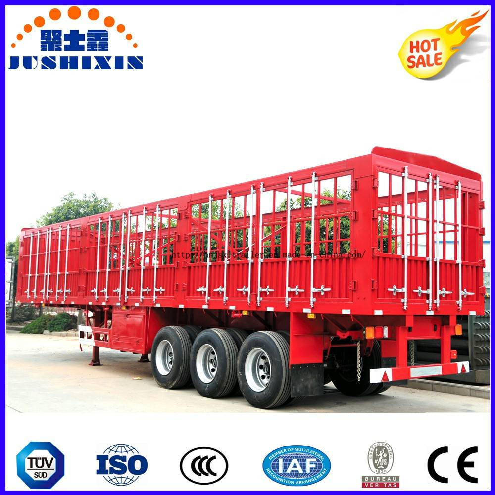 3 Axles Stake Tri-Axle Fence Transport Truck Trailer