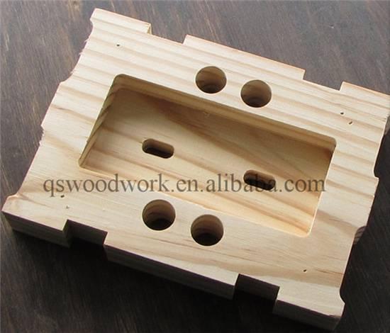 Solid wood walnut cheese mold