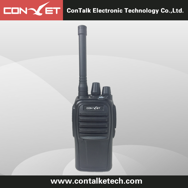 ContalkeTech CTET-368S 5W UHF and VHF dual band dual display two way radio FM radio black/red