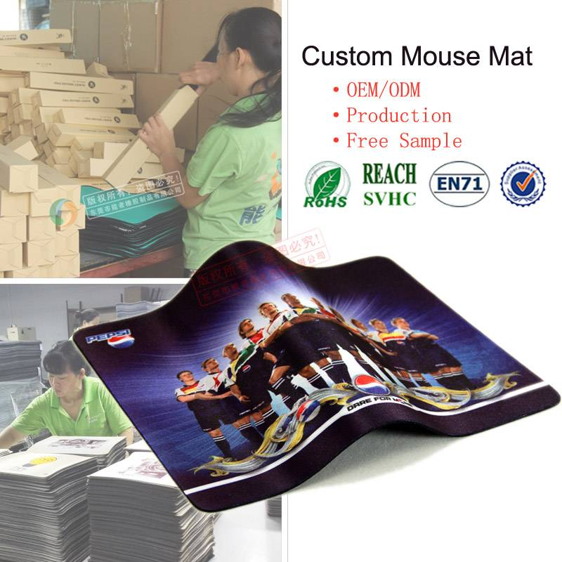 Manufacture cheapest non-slip advertising rubber mouse pad/laptop mice mat