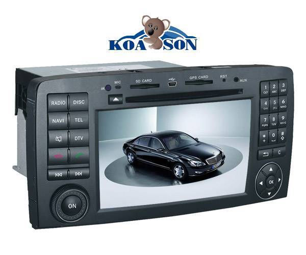BENZ R300 car dvd gps navigation player with 7-Inch Touch Screen/Canbus/DTV(optional)/Radio(RDS)/Blu