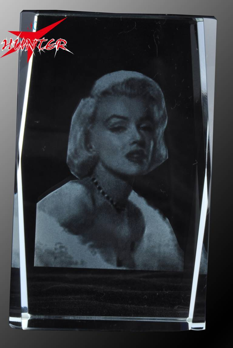 Laser Internal Carving Film Star Crystal,K9 Marilyn Monroe Crystal