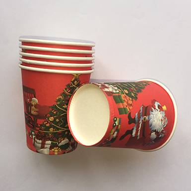 Wholesale colorful custom Happy Father Christmas Party Cups