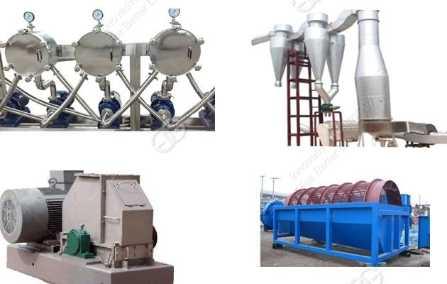 sweet potato/cassava starch processing line with price made in china