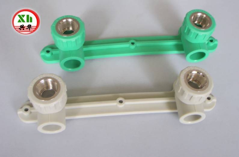 PPR fittings,Double elbow wall-plate female