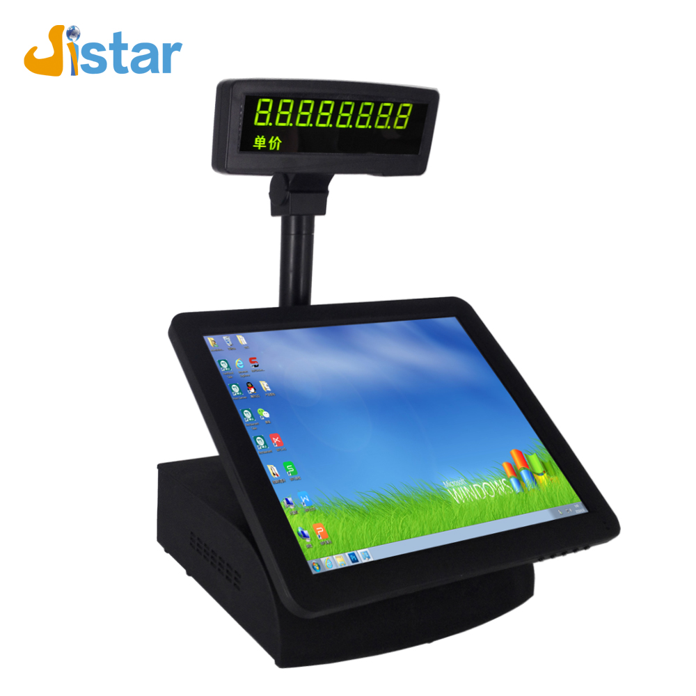 single screen android pos system with VFD customer display