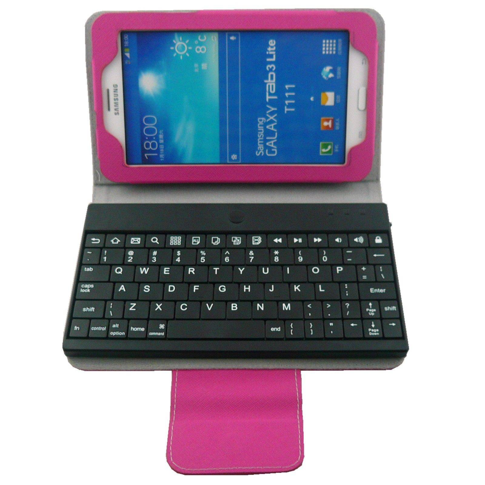 Removable Wireless Bluetooth Keyboard Case For Samsung Galaxy Tab 3 Lite 7''T110