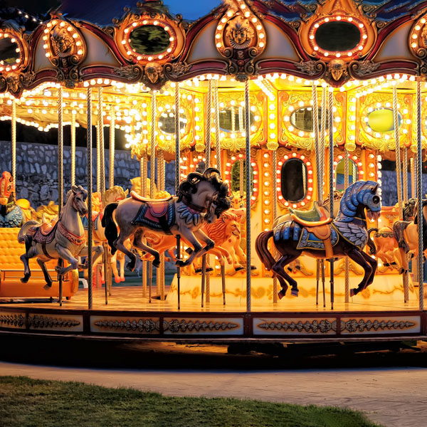 38 Seats Double Carousel Ride HFDC04--Hotfun Amusement rides