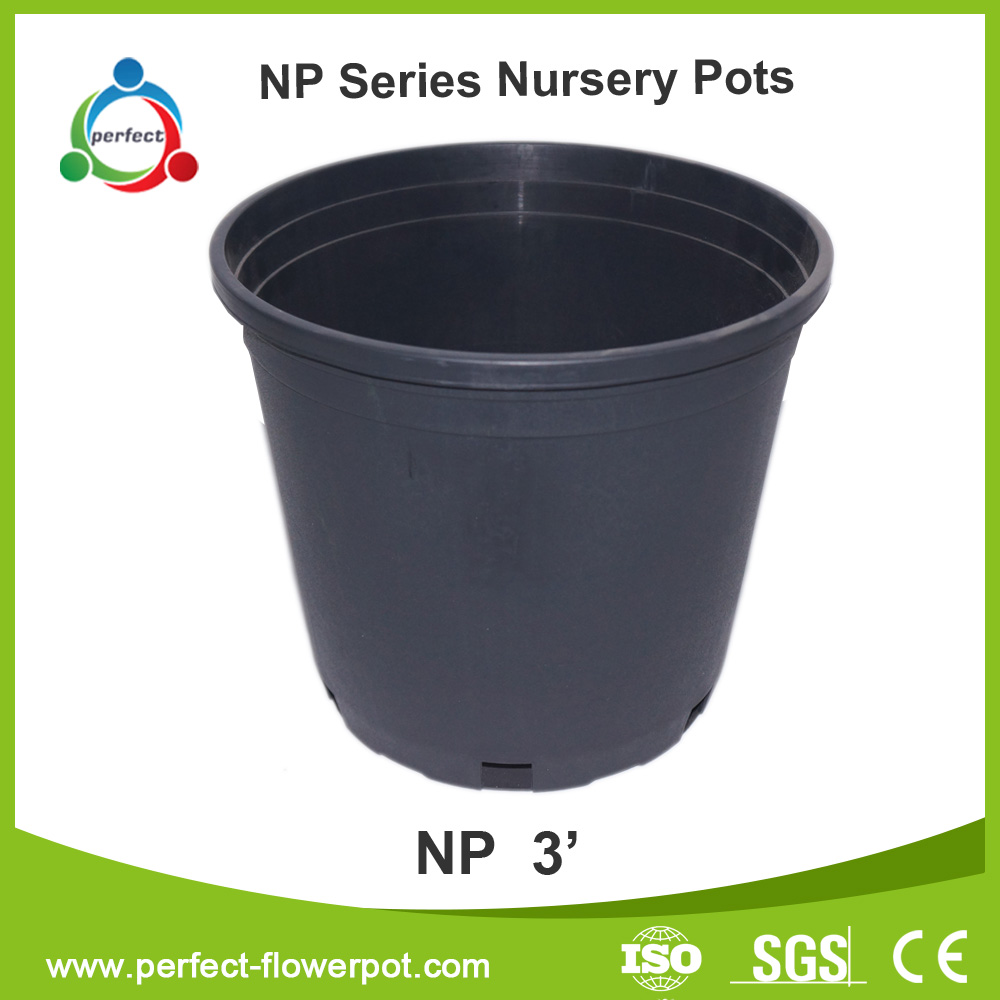 Wholesale nursery containers,black flower pots,plastic pots