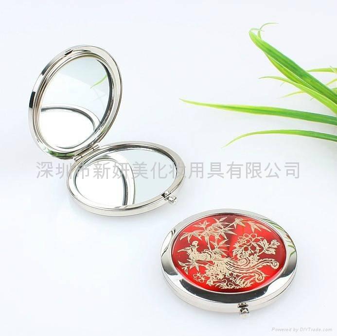 Iron Round Compact Mirror