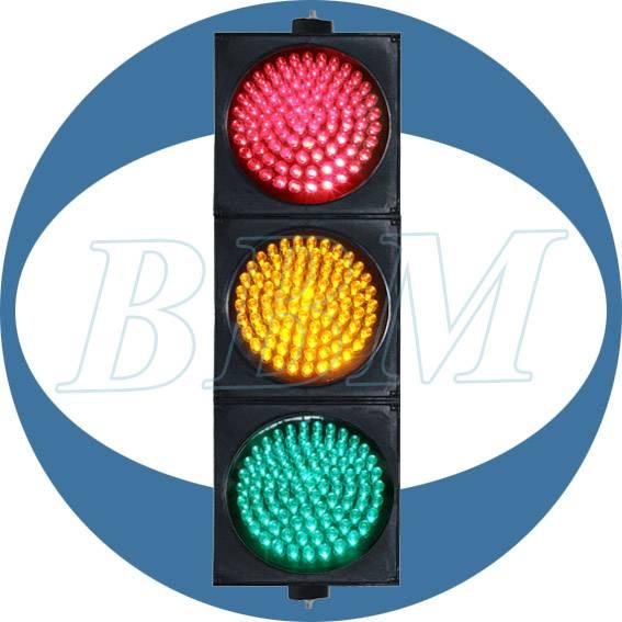RYG ball traffic signal controller fresnel lens