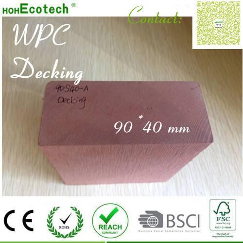 Anti-crack anti-fading moisture proof outdoor WPC vinyl composite decking