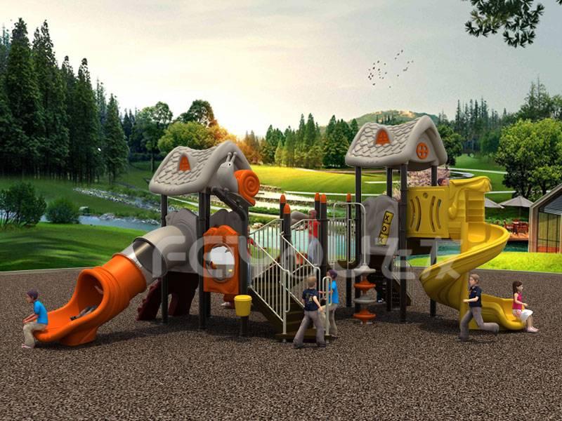 Newest Children outdoor playground slide in good DDPLE