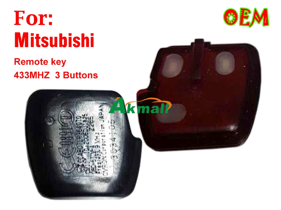 Auto Mitsubishi Lancer EX 433MHZ 3 button remote key