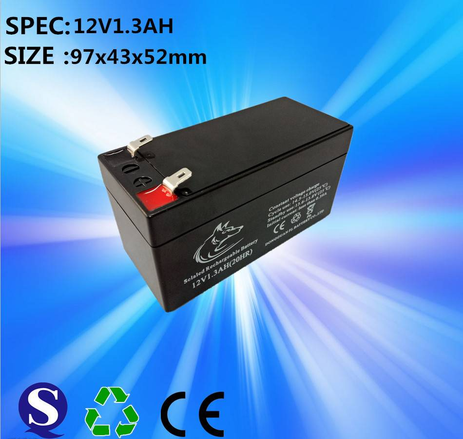 Deep cycle 12v 1.3ah 20hr sealed lead acid battery for electronic scale
