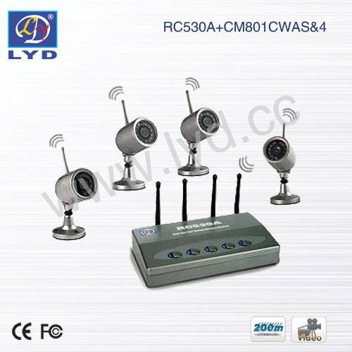 4-Ch Super DVR Waterproof IR Wireless Home Security System