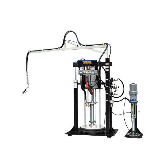 Two component coating machine