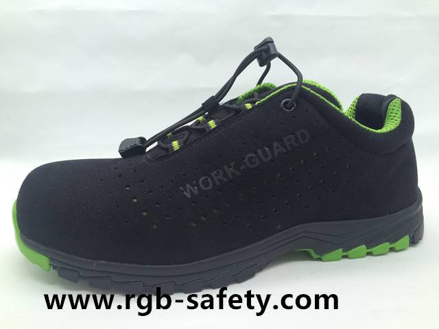 Sporty high tech Microfiber Upper Composite toe shoes for men SF-091