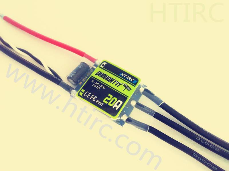 HTIRC Dragonfly series 20A 2-6S LIPO ESC OPTO BEC for multi-rotor.