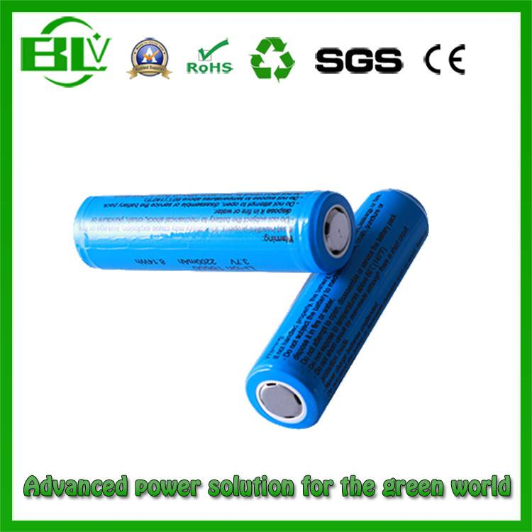 From Chinese OEM/ODM Factory High Rate 1860 2200mAh Li-ion Battery for Flashlight