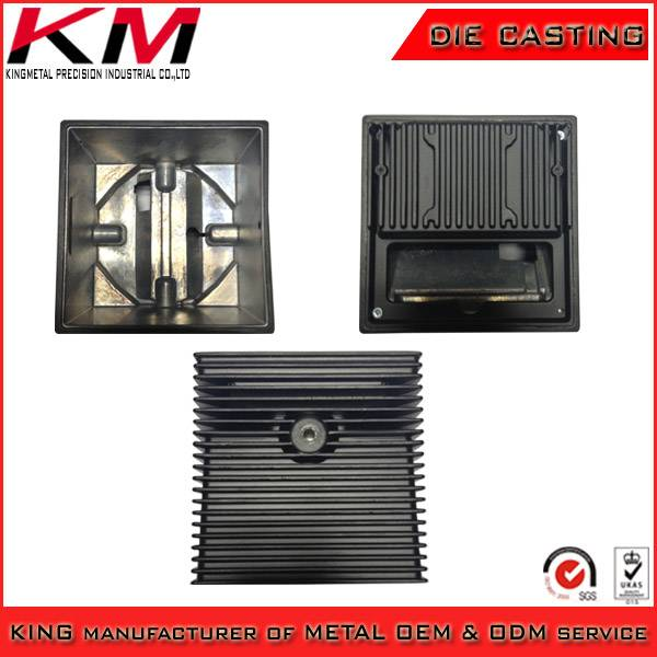 Aluminum die casting powder coated assembly enclosure