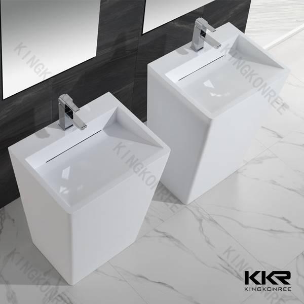 solid surface small size stone basin freestading wash basin