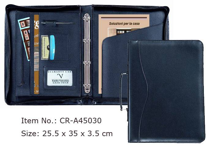 Executive Zip-Closed Organizer Padfolio with Pouch Pocket