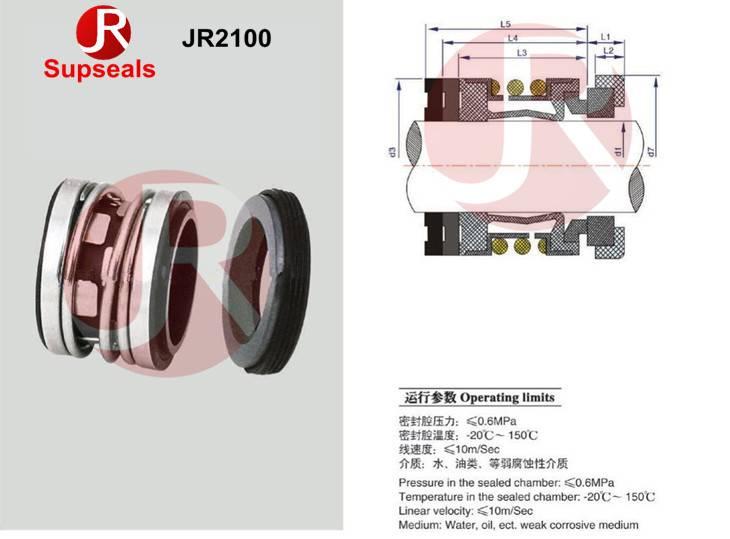 John Crane elastomer bellow mechanical seal JR2100