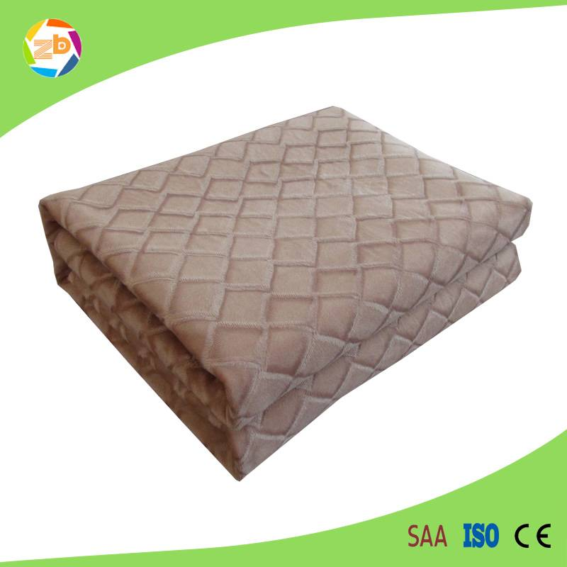 customized polyester bed warmer with approved CE/Rohs