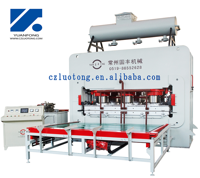 high quality hot press machine for laminating floor