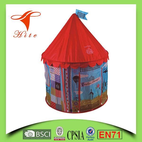 Children play castle tent