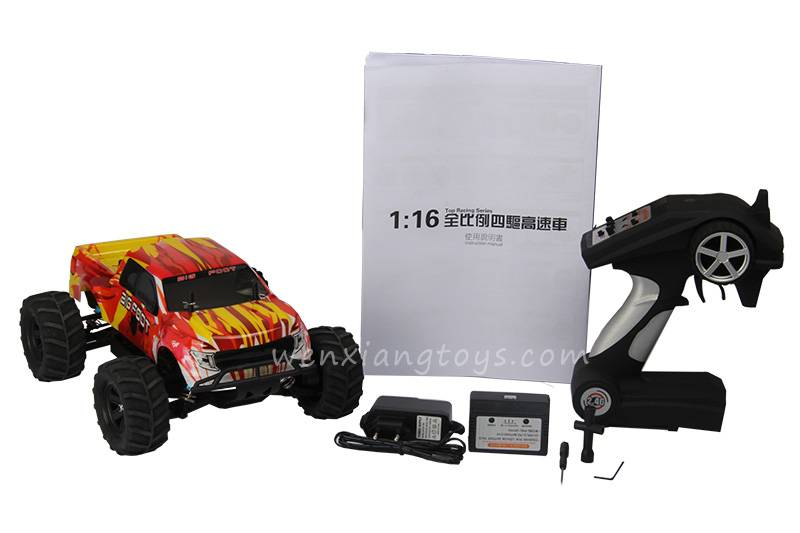 high speed 1/16 remote control truck rc car