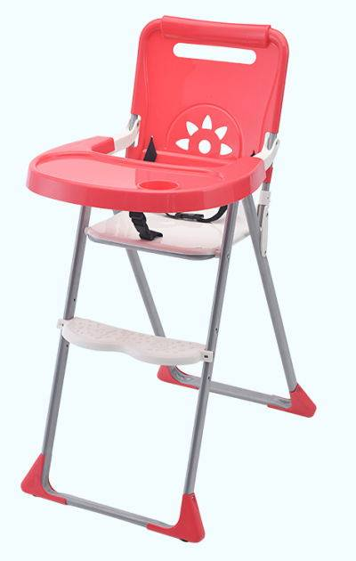 Plastic foldable baby feeding high chair