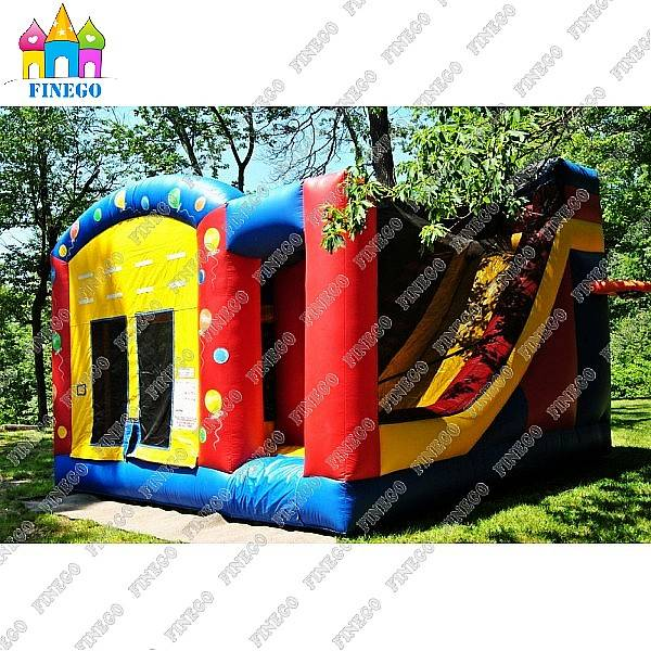2016 Cheap Price Commercial Inflatable Bouncy Castle with Slide