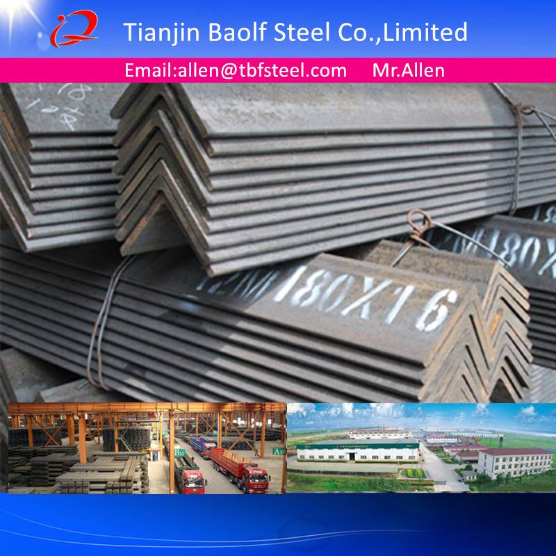ASTM A36 JIS3192 SS400 Hot Rolled Unequal Steel Angle Bar