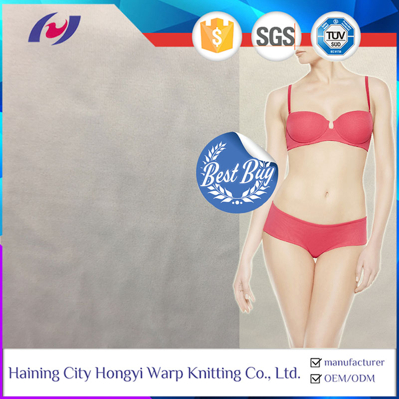 Wholesale Lightweight Waterproof Thick Microfiber Stretch Polyester Spandex Lingerie Fabric