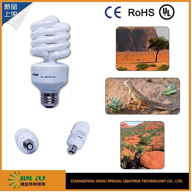 JX reptile compact fluorescent uvb lamp uvb5.0/10.0 13w/26w