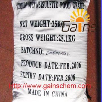 sodium metabisulfite,sodium pyrosulfite,CAS: 7681-57-4