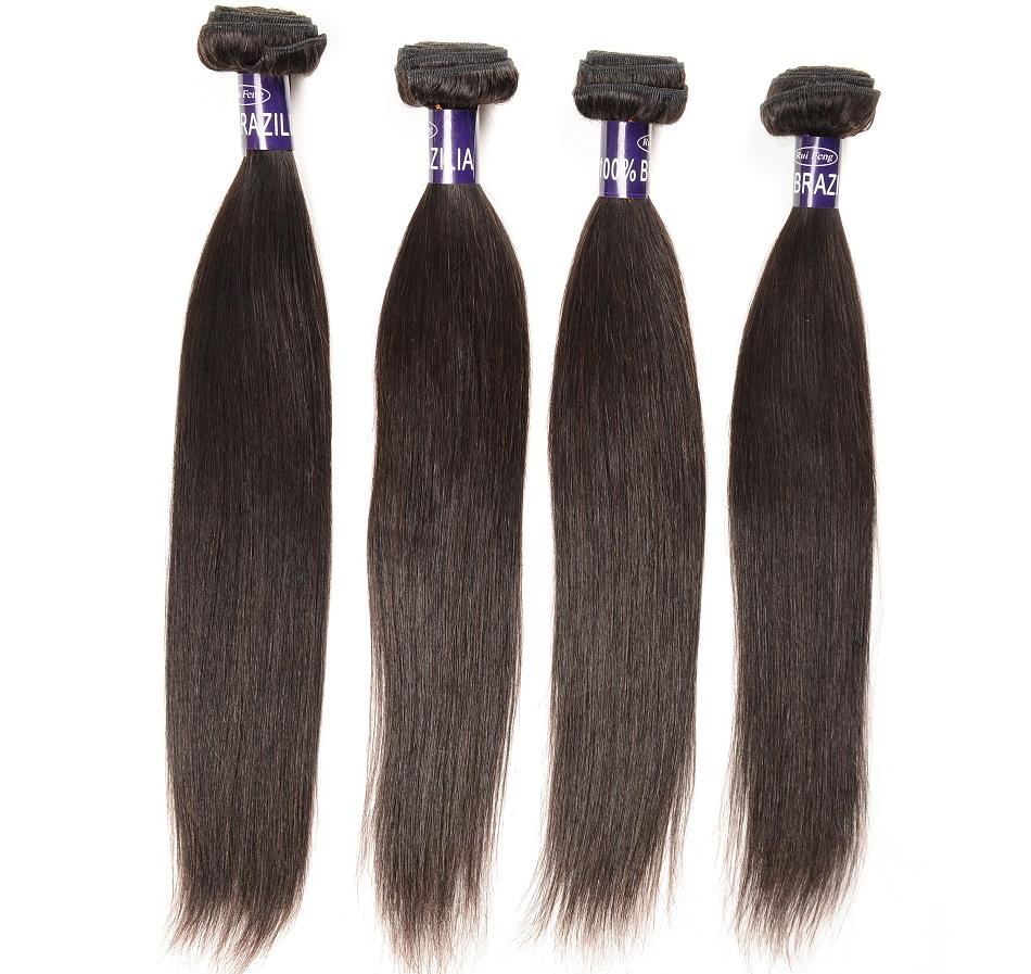 Straight Brazilian Hair Weave 4 Pieces Brazilian Virgin Hair Sraight Human Hair Extensions