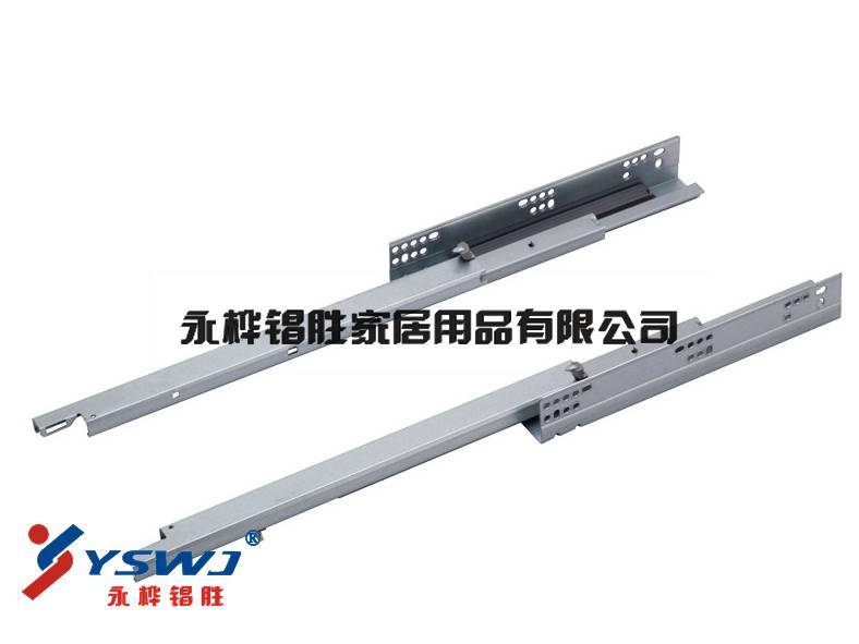 Heavy load 3-fold concealed side mounted basket slide YS733A