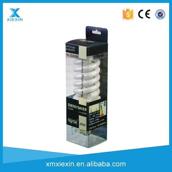 high quality clear pvc LED lamp packaging box