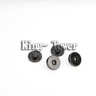 2015 stainless part threaded pin flat head machine screw