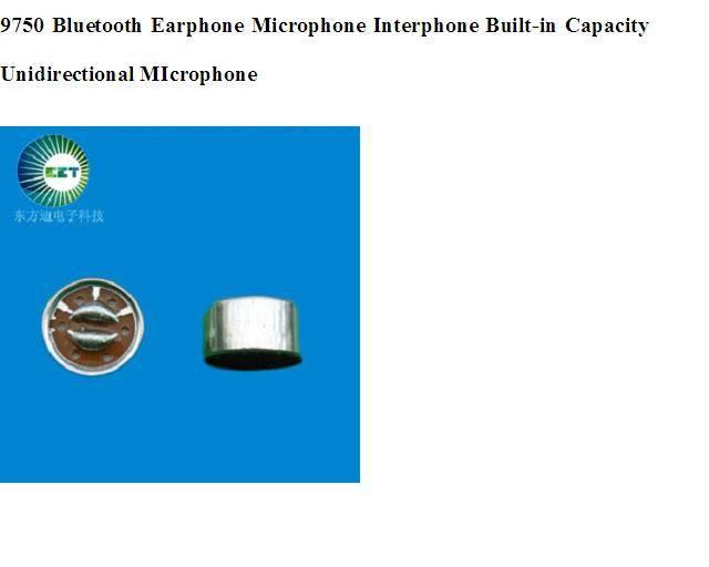 9750 Bluetooth Earphone Microphone Interphone Built-in Capacity Unidirectional MIcrophone
