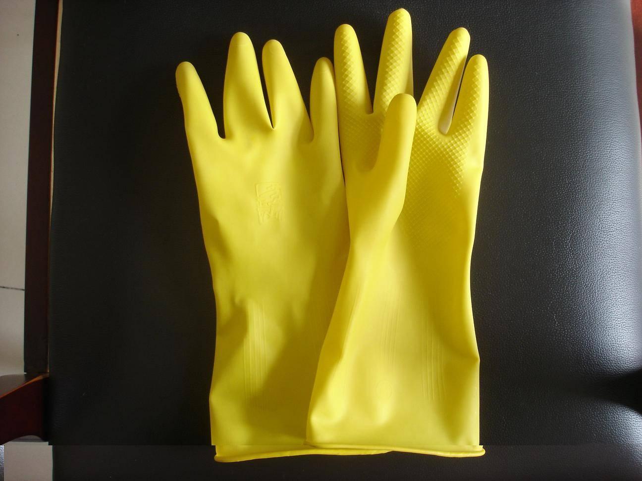 dipplined household latex gloves-50g/pair