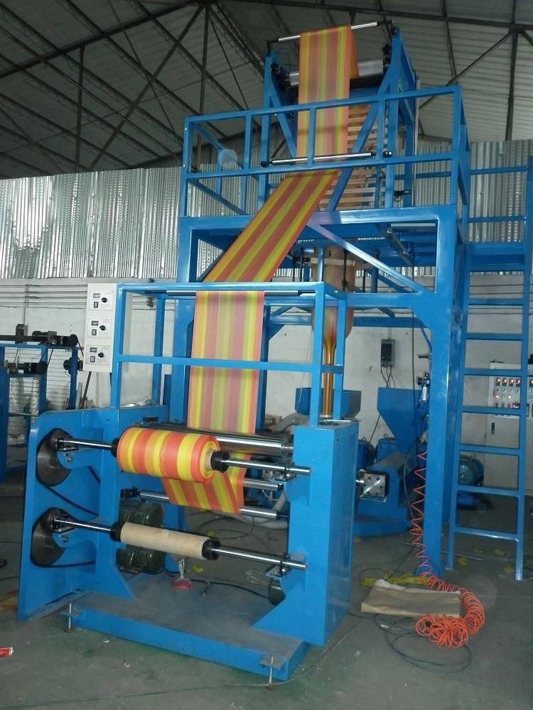 Double colour film blowing machine